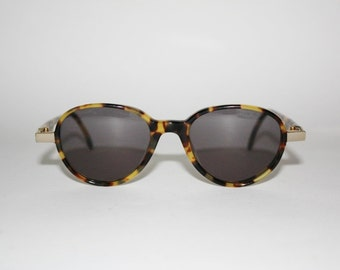 Vintage Sunglasses Les Copains mod. 41 Pantos Round Tortoise Made in Italy Moscot Style Tortoise