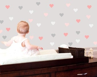 Heart Wall Decals - Valentine Fabric Wall Decals