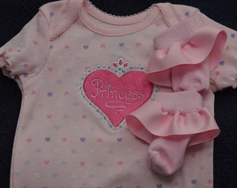 Princess Onesie with matching socks