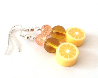 orange sorbet  - Earrings