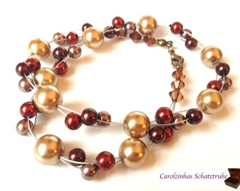 Indian Summer - necklace with beads