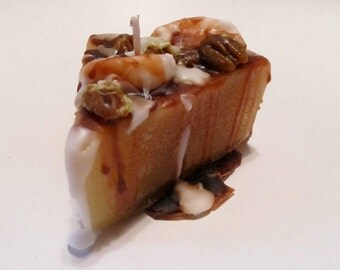 pecan cake candle, bakery candle, pecan candle, dessert candle, pecan pie