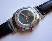 Soviet Watch. Poljot Vintage Russian Men's Mechanical Wristwatch Date Calendar USSR