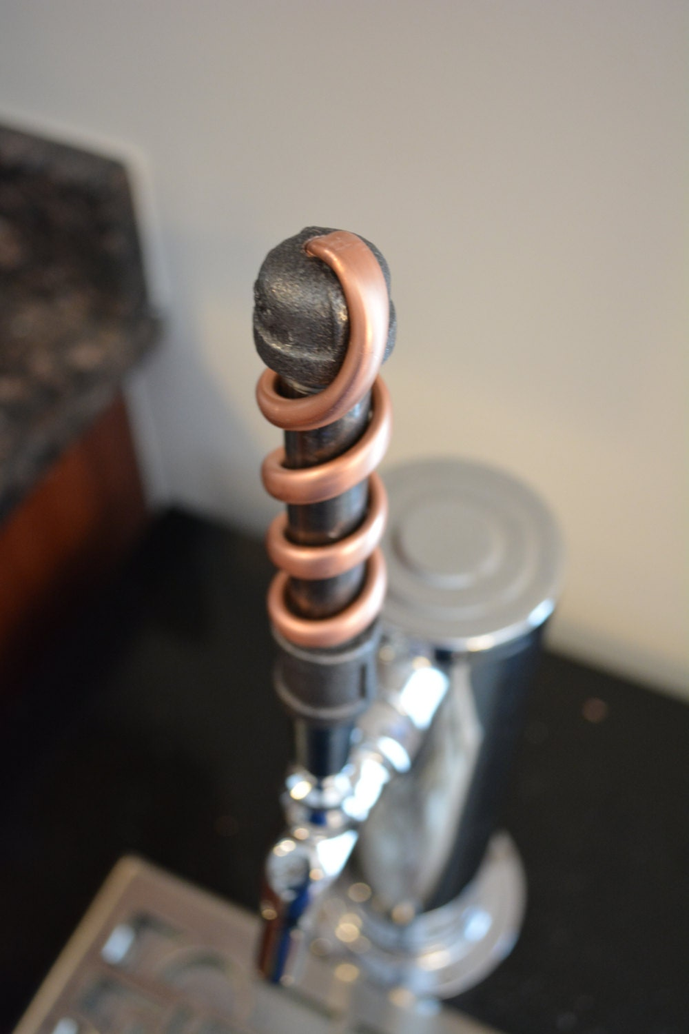 Iron Copper Pipe Beer Tap Handle Copper Industrial Tap