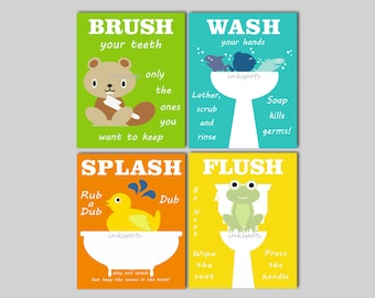 Kids Bathroom Art Kids Bathroom Signs Rubber Duck Bathroom Frog Fish