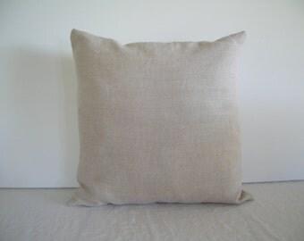 Natural Linen 16x16 Pillow Cover