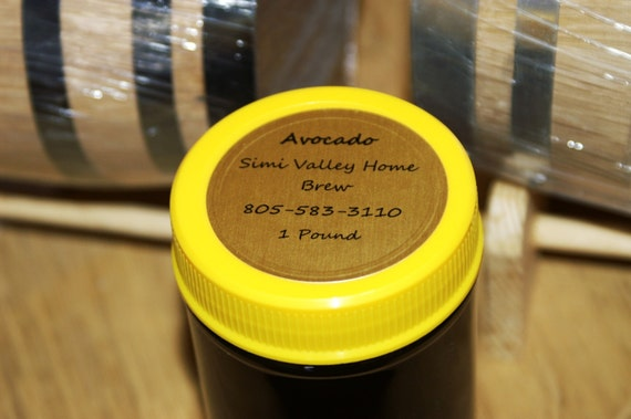 All Natural & 100% Organic Raw Southern California AVOCADO Honey 1 Pound