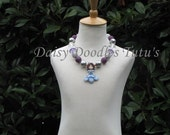 Princess Sophia Clay Pendant Sophia The First Chunky Necklace Photo Prop  16 Inches