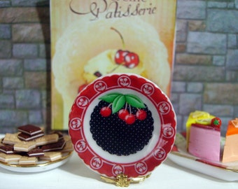 Cherryes Dollhouse Miniature Plate 1:12 Scale