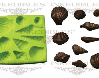 Silicone Chocolate Mold - 3D Seashells Shape