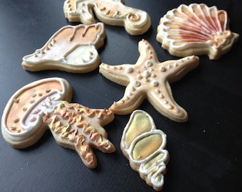 Golden Seashell Cookies