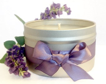 French Lavender Aromatherapy Scented Candle Tin 8oz