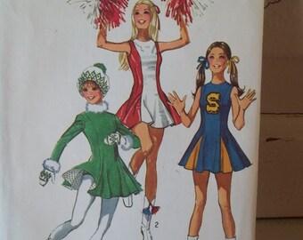 Costume Ice Skating or Cheerleading 9645 Simplicity Junior/Teens and Misses Cheerleaders or Skaters pattern