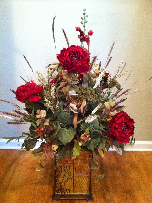 Extra Luxury Fall Autumn Floral Arrangement Silk Flowers