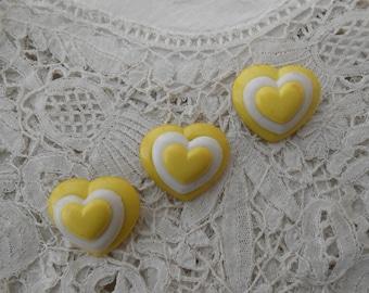 Vintage Heart brooch x 3