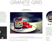 Granite Grid INSTANT DOWNLOAD Pre Made Blogger Blog Template Design
