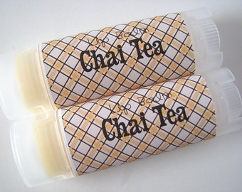 Chai Tea Flavor - Vegan Lip Balm - Natural Lip Butter - Bath and Beauty  - Home and Living