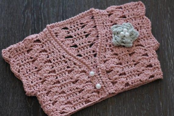 Crochet Flower Shrug Pattern : Crochet Pattern Girls Bolero Pattern Pearl Flower by ...