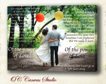 First dance lyric, Word Art lyrics favorite song with photo Wedding vow art Personalized Canvas Artwork Text Poems Words on Photograph