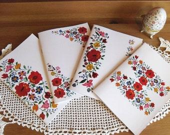 Traditional Hungarian Kalocsai Floral Motif Notebook Exercise Book A5