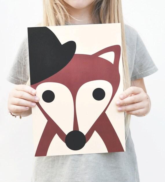 Affiche MISTER FOX papier recyclé format A4