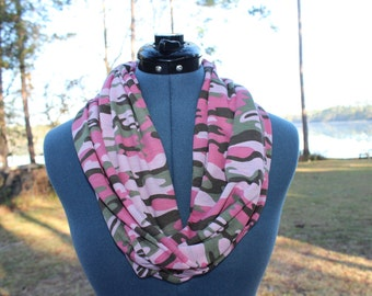 Pink Camo Infinity Scarf
