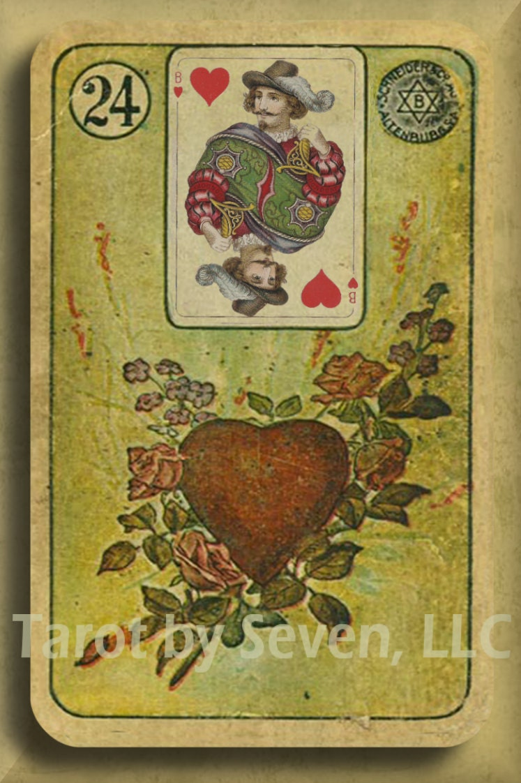 Card Deck With Guidebook By: Vintage LENORMAND 1800s Deck Remastered With CHOICE Of BACKS