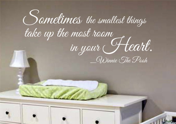 Wall decal winnie the pooh quote nursery kids room decor wall