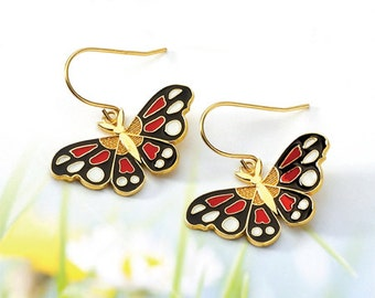 Butterfly, Butterfly Jewelry, Butterfly Earring, Butterfly earrings, Gold Butterfly, Colorful Butterfly, 14k gold Butterfly