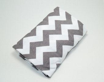 Gray Chevron Newborn Swaddle Blanket, Grey Swaddle Blanket, Baby Receiving Blanket, Chevron Swaddler, Lightweight Cotton Blanket