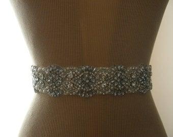 SUMMER SALE / Wedding Belt, Bridal Belt, Bridesmaid Belt, Sash Belt, Wedding Sash, Bridal Sash, Belt, Crystal Rhinestone & Pearl