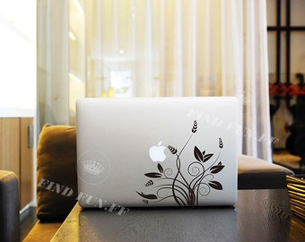 FLOWER Decal Macbook Air Sticker Macbook Air Decal Macbook Pro Decal 53752-1220-水草开花