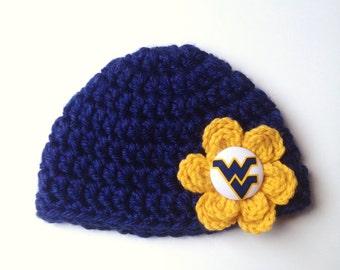 WVU  flower hat