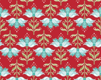 Riley Blake Red APple of My Eye Floral-C2892- 1 yard