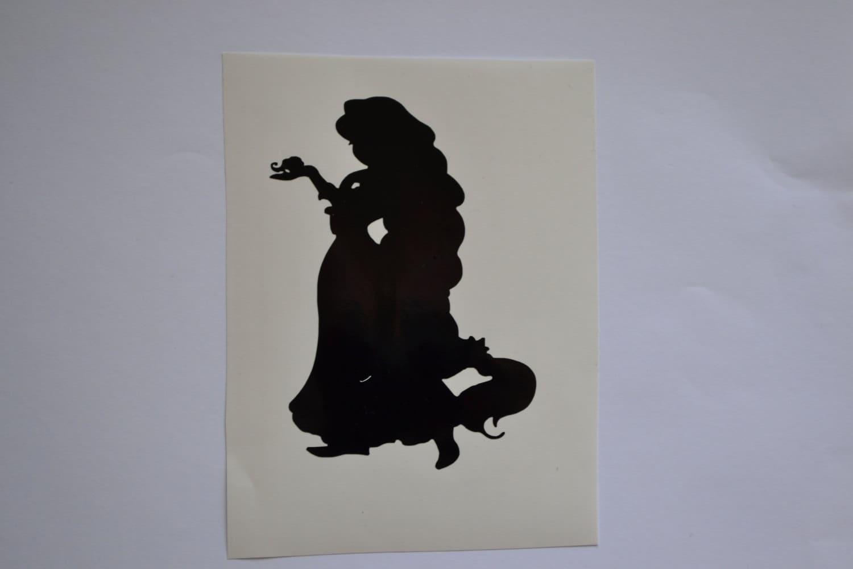 Rapunzel Silhouette Decal by NerdVinyl on Etsy