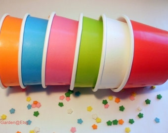 100 Small 8 oz Ice Cream Cups - Your Choice of Color