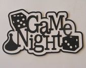 Die cut Title - Game Night Title for Scrapbooking 1 pc