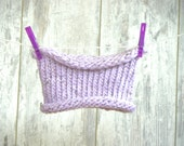 SALE Girl's Scarf, Girl's Hand Knit Cowl, Lilac Wool Cowl