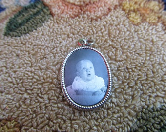 Vintage Baby Photo Charm