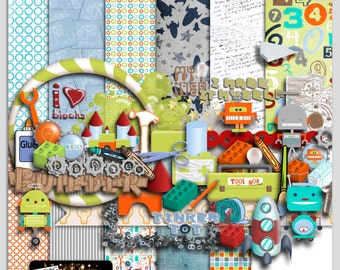 TINKER TOT (Digital Scrapbooking Mega Kit) Personal Use Only