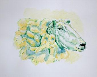 Green Sheep, digital copy