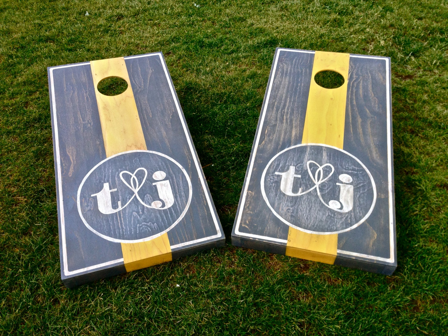 Wedding Cornhole Game By ColoradoJoes Your Monogram Here