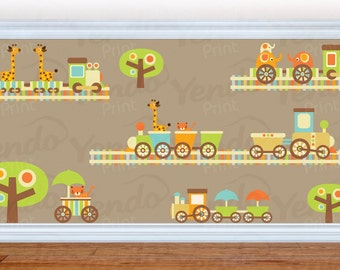 Wall Decals for Childrens Bedroom - Train Wall Decals - Nursery Wall Decals - Animal Wall Decals