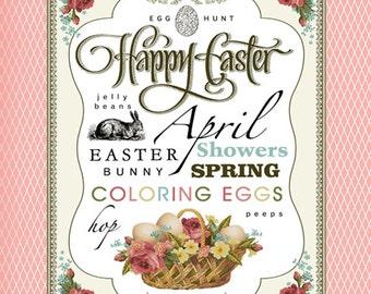 April Subway Art. Easter Printable. Instant Download.