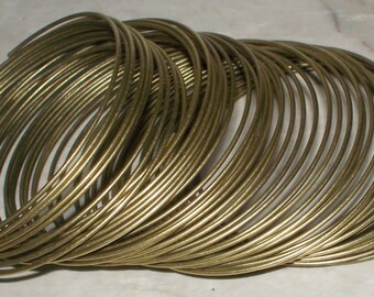 Bronze Steel Memory Wire - 50 or 100 Loops