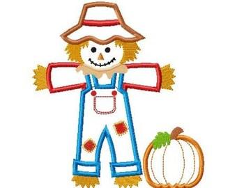 Scarecrow Boy Machine Embroidery Design