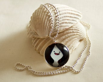 Adventure Time Marceline / Round Silver pendant / 20mm image / Special for Adventure Time lovers