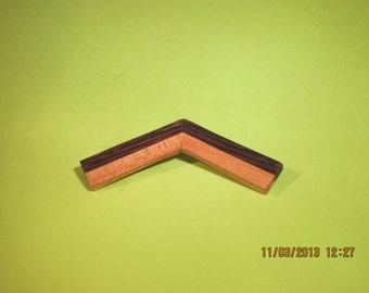 Laminated wood pin