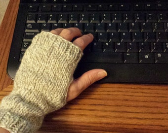 Knitting Pattern for Fingerless Mitts