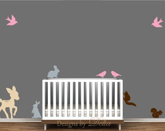 Nursery Wall Decal with Forest Animals